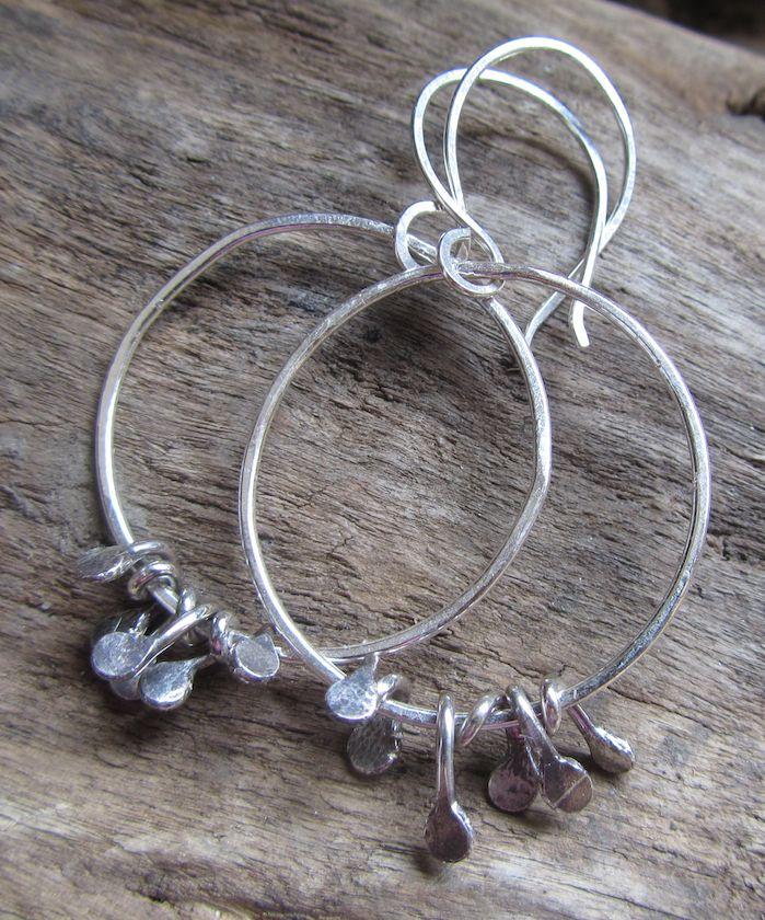 Silver bramble earrings