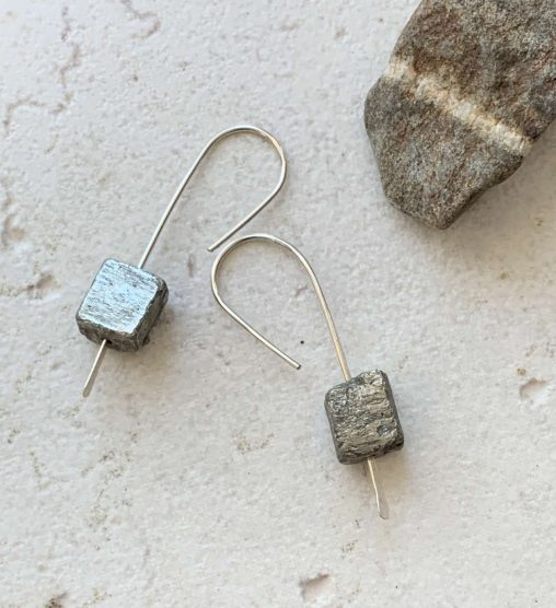 rough pyrite earrings