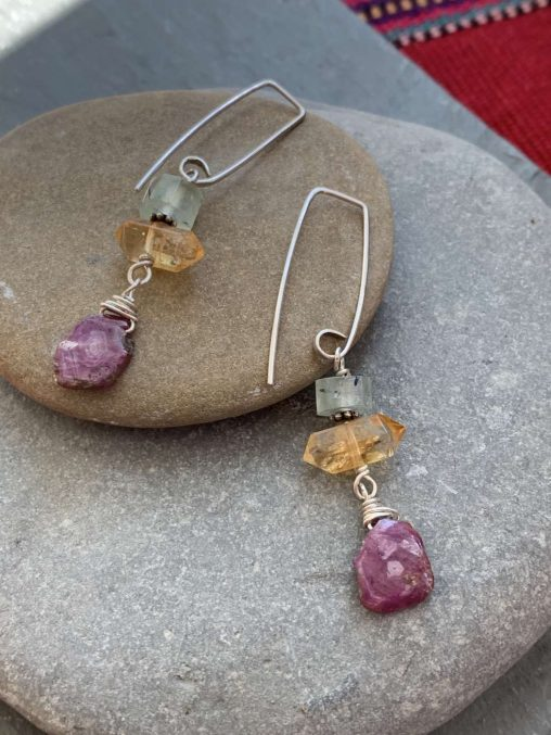 natural gemstone earrings