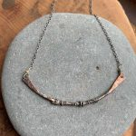 mixed metal copper necklace
