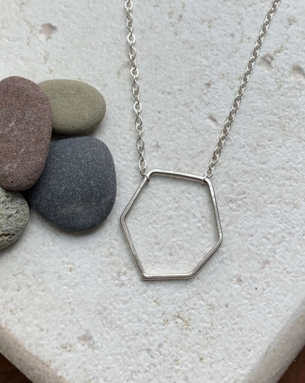 simple geometric necklace