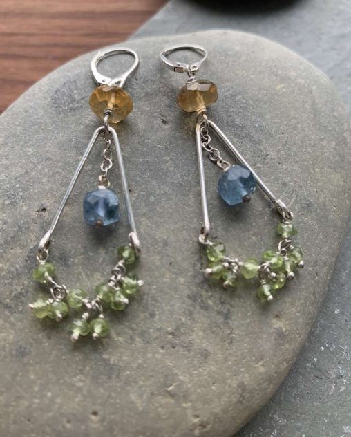 colorful gemstone earrings
