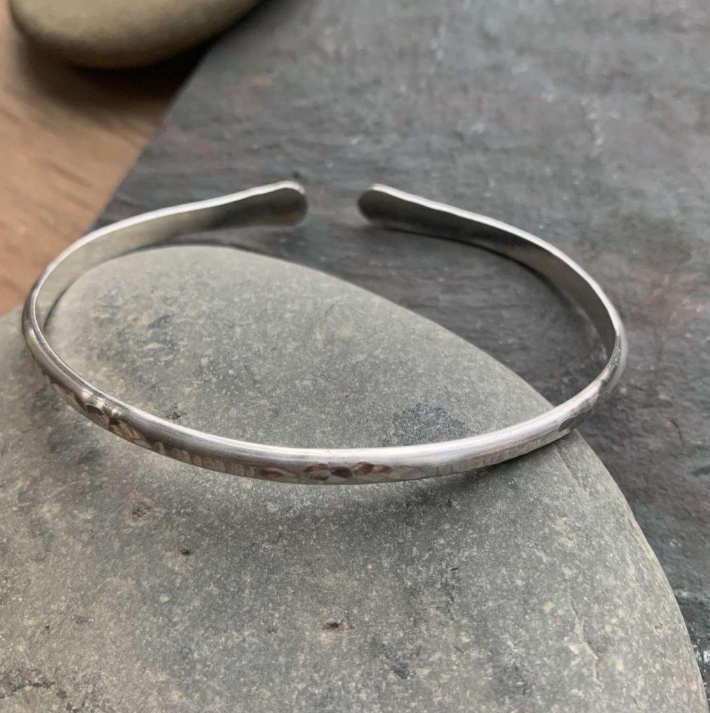 mens silver cuff