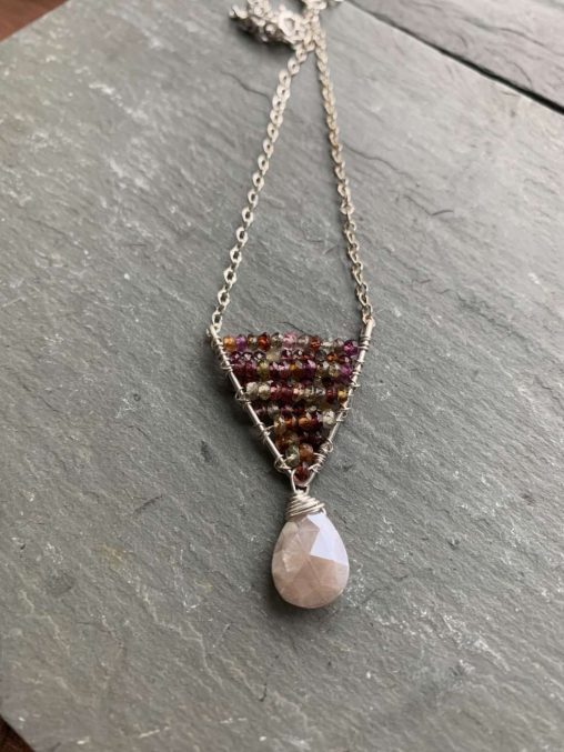 spinel moonstone necklace