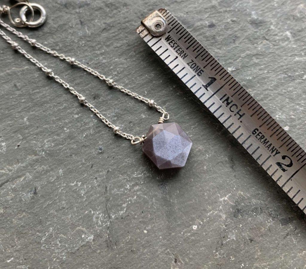 gray moonstone pendant