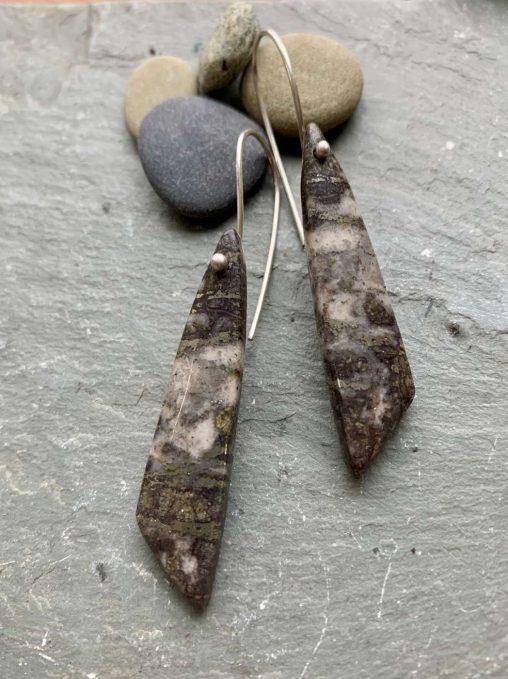 pyrite statement earrings