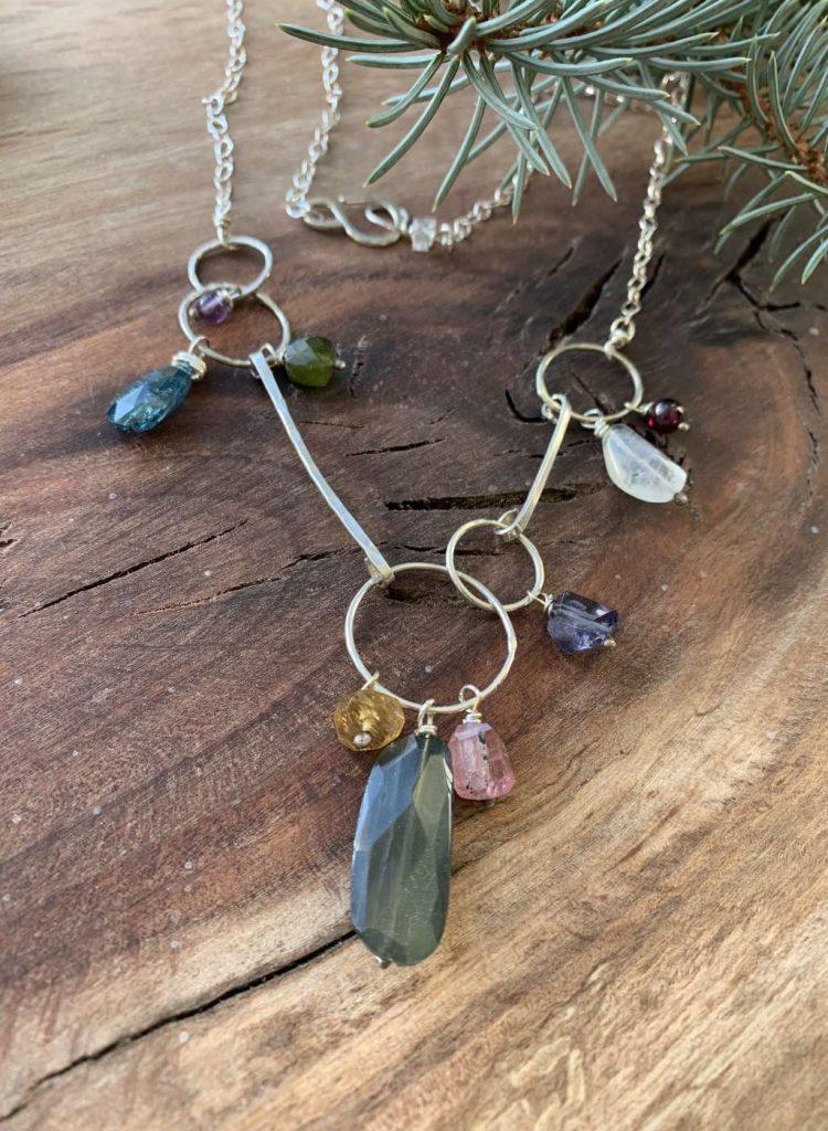 mulit gemstone necklace