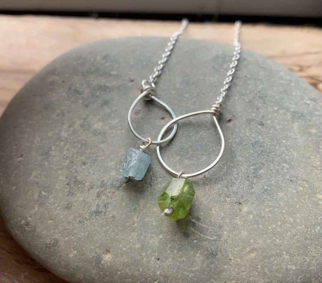 eternity links gemstone necklace