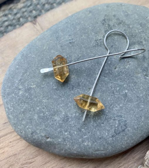 citrine drop earrings