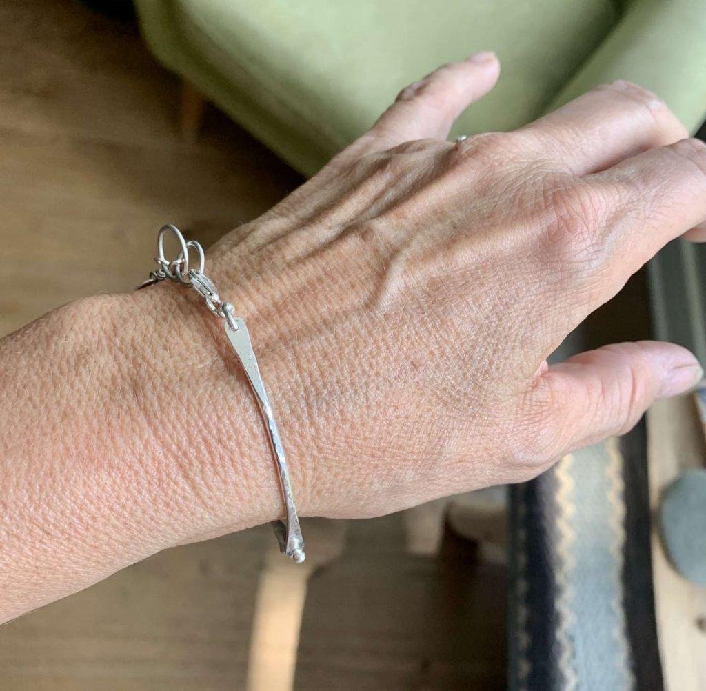 hammer silver bracelet