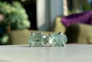 green kyanite post earrings